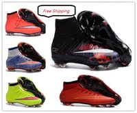 Wholesale OLALASports Cheap Mercurial Superfly CR7 Soccer Cleats FG Shoes ACC Soccer Boots High Quality Shoes