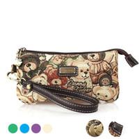 Wholesale 2016 New Brand duke bear canvas clutch bags for women lady vintage phone coin purse mini bag