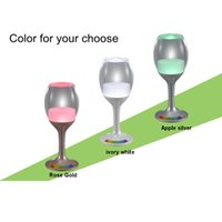 bar table base - Wine Glasses Rechargeable LED Cup Night Light Decor Bar USB Charging Cord Color Changing Base Novelty Lighting Touch Sensor LED Table Lamp
