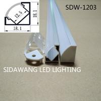 aluminium corner profile - 10M set led aluminium profile for led bar light led strip corner aluminum channel waterproof aluminum housing SDW