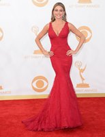 Cheap Sexy Deep V-neck Lace Mermiad Long Celebrity Dresses Red Carpet robe de star courte celebrity 2016