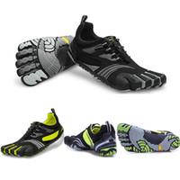 venda por atacado five finger sport shoes-New 1111C dos homens negros Cinco Dedos Trekking Escalada de fitness sapatos de homem Qualidade Sapatilhas externas KMD Esportes sapatos tamanho 40-46