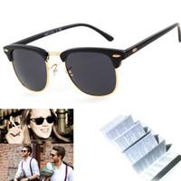 Wholesale New Clube Mestre half frame sunglasses party ladies sunglasses black lens men driving sunglasses