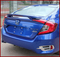 Wholesale Top Quality Rear Spoiler Wing For Honda Civic rear car ABS Plastic spoiler for generations trunk spoiler without paint