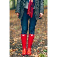 best waterproof rain boots - Best Selling Woman Rain Boots Top Quality Rainboots Wellies Boots Women High Boots Waterproof H brand Boots Rubber outdoor water shoes