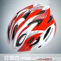 Wholesale ROCKBROS male and female super light body forming riding helmet mountain road bicycle helmet riding equipment