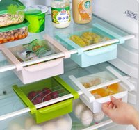 Wholesale Plastic Kitchen Refrigerator Storage Rack Fridge Freezer Shelves Holder Pull out Drawer Organiser Box Space Saver Hot Sale