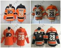 authentic hoody - 2016 Old Time Hockey Jerseys Philadelphia Flyers Hoody Claude Giroux Hoodie Sports Authentic Pullover Sweatshirts Jacket