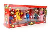 Wholesale 4pcs set cm Super Mario inch PVC Action Prototype Toy Mario Models Garage Kit cm Family Sets