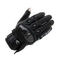 Wholesale new leather motorcycle gloves carbon fiber racing gloves sports gloves wear gloves waterproof gloves anti fall glove
