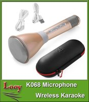 Wholesale K068 Wireless Microphone Microfone With Mic Bluetooth Speaker Condenser Mini Karaoke Player for KTV Singing Record