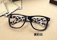 Wholesale Hot glasses for women men Unisex glasses frame Rivet Retro mixed Color Sunglasses Frames no Lens Glasses with printing