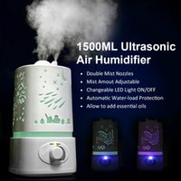 Wholesale Hot New L Ultrasonic Home Aroma Humidifier Air Diffuser Purifier Lonizer Atomizer Humidifiers B036