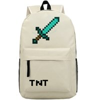 best sword games - Blue sword backpack Cool Weapon school bag Enderman JJ Fans hot day pack Best game daypack