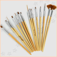 Wholesale Cheap Nail Paints - Cheap Nail Brush Supplies 15Pcs Set Nail Art Pen Set Nail Tools Nail Art Design Painting Tool Pen