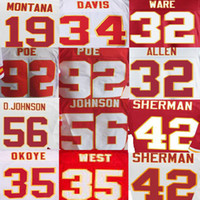 american red wine - Anthony Sherman Jersey Charcandrick West Derrick Johnson Dontari Poe Joe Montana Knile Davis Marcus Allen American Football Jerseys Elite