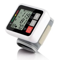 Wholesale Wrist Electronic Blood Pressure Monitor Household Tonometer Meter Sphygmomanometer Auto Blood Pressure Monitor Health Care DHL