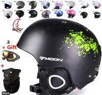 Wholesale Moon skiing helmet autumn and winter adult male ladies monoboard skiing flanchard equipment Snow Sports saftly Helmets