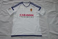 Wholesale zaragoza home jerseys sports shirt Lanzarote Angel Rodriguez Cani Zapater