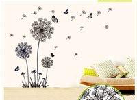 big flower wallpaper - Big Size Dandelion Flower Wallstickers Home Decor wall decals Removable Vinyl Art on Wall Wallpapers Art Mural