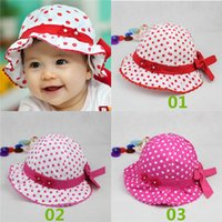 baby bucket hat pattern free - New Arrivals Baby Girl s Children s Toddler Sunhat Outdoor Bucket Hats Beach Caps Patterned With Bow Cotton Blends GA456