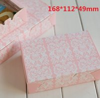 Wholesale mm Pink Vintage white Pattern series DIY Multifunction Portable Packing box Cake box Package paper