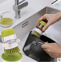 automatic bowl cleaner - Kitchen Wash Tool Pot Pan Dish Bowl Palm Brush Scrubber Cleaner Plastic Automatic Add Clean Liquid Washing Tool CCA4887