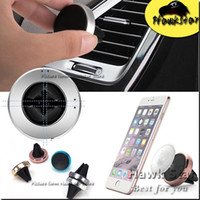 Wholesale Magnetic phone holder car air vent mount universal mobile Metal Ring Stand For Iphone S Samsung Note7 HTC MOTO LG