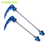 Wholesale 1Pair Mountain Road Bike QR Quick Release Lever Cycling Wheel Skewer Set Bicycle Parts Red Black Blue