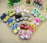 baby stereo - Baby supplies baby socks stereo cartoon anti skid floor socks direct deal