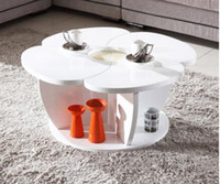 Wholesale Modern furniture round table flower tea table of the lacquer that bake