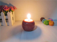 Wholesale Vintage Apple candle Home Docor Romantic Decorations Apple Scented candles Birthday Christmas Wedding Party Candles Greet Gifts CM