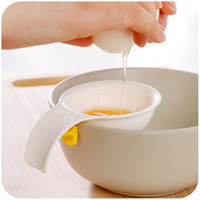 Wholesale hot new gadgets Silicone snap egg yolk white separator Divider Sifting Gadget Plastic Filter Cooking Tool