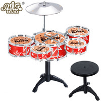 Wholesale Kids Toys Jazz Drum Sets Musical Instrument Drum Kit Baby Infant Jazz Drum Rock Set Music Educational Toy For Children Gift Items