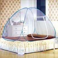 Wholesale 2016 New Fine Mesh Mosquito Net Mongolian Yurt Good Sleep Mosquito Nets For Double Bed Netting With Zipper Double Door