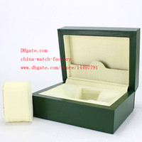 antique card box - High Quality Brand Watch Classic Green Original Box Papers Leather bag Card Gift Boxes In Watches