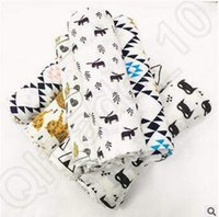 bear design blanket - 18 Design cm INS Batman Fox Bear Wolf Panda Muslin Blanket Aden Anais Baby Swaddle Wrap Blanket Towel Infant Blanket CCA4802