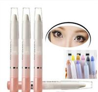 Wholesale 20 Color Eye shadow Makeup Pen Eyeliner high light colorful Eye shadow Pen Pen Lying silkworm Pearl White eyeliner makeup Sell