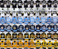 Wholesale Pittsburgh Penguins Sidney Crosby Jerseys Ice Hockey Throwback Kris Letang Evgeni Malkin Phil Kessel Mario Lemieux Black