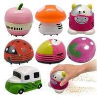Wholesale 3V W ABS Small desktop mini vacuum cleaner cleaner lovely beetles strawberry cleaner car interior cleaner