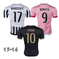 Wholesale top Thai Quality juve PIRLO jersey Soccer shirt MORATA MANDZUKIC POGBA soccer jersey MARCHISIO Football shirts