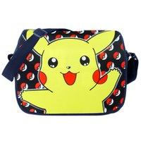 Wholesale 2016 Poke Messenger Bag for kids children cartoon Cross body bags Shoulder Pikachu pocket ball anime Free express