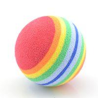 Wholesale Rainbow Joy No Harm Pet Small Dog Puppy Cat Play Chew Treat Ball Toy Training