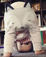 Wholesale Cute Baby Boys Girl Cotton Harem Pants Children Kids Fashion fox printed Long Trousers Casual Loose Outfits Clothing Toddler PP Pants L318 Z