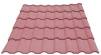 Wholesale high quality aluminum zinc light weight milano type stone chips coated metal roof tile