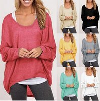 Wholesale 50 pieces Hot Sale Women s Sweater Coat Multicolor Cotton Knitwear Lady Knits Tees DHL Freeshipping