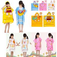 Wholesale Winter Thicken Cotton Kids Bath robe Soft Hooded Baby Girl Baby Boy Bath Robe Cartoon Animals Children Beach Towels Kids Best Gift