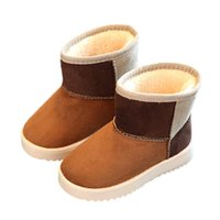 Wholesale 2016 New winter children ankle boots fashion flat with kids snow boots T slip on girls boys boots with pu leather
