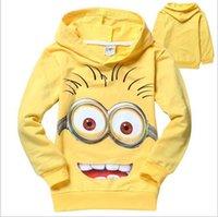 Wholesale 2016 little yellow years boy hoodies cartoon printing Hoodies Sweatshirts casual children s jacket