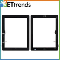 Wholesale for iPad Touch Screen Glass Digitizer Assembly with Home Button M Adhesive Replacement Repair Parts Black White AA0008